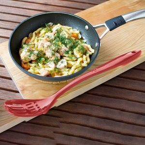 Natural Home Bamboo Molded Slotted Serving Spoon